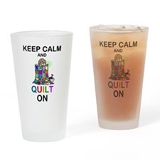 Funny Quilting Drinking Glass