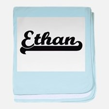Ethan Classic Retro Name Design baby blanket