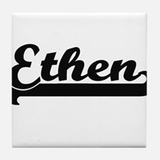 Ethen Classic Retro Name Design Tile Coaster
