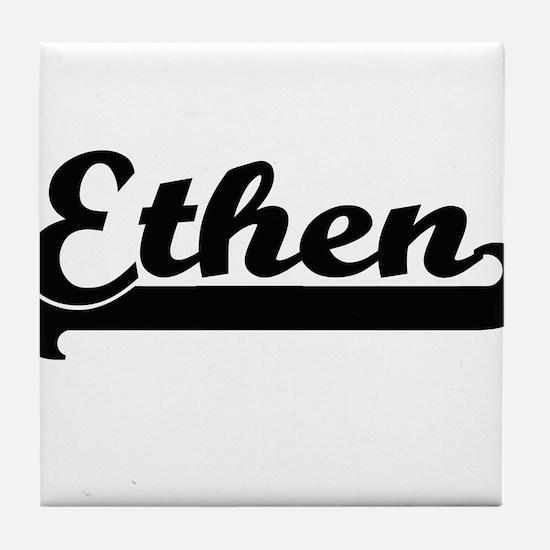 Ethen Classic Retro Name Design Tile Coaster