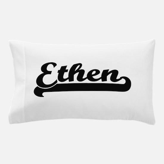 Ethen Classic Retro Name Design Pillow Case