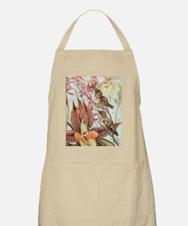 Vintage Hummingbirds and Orchids Apron