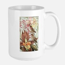 Vintage Hummingbirds and Orchids Mugs