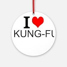 I Love Kung Fu Ornament (Round)