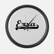 Ezra Classic Retro Name Design Large Wall Clock