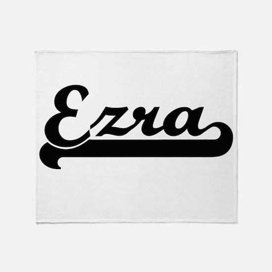 Ezra Classic Retro Name Design Throw Blanket