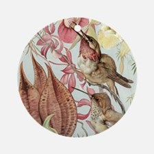 Vintage Hummingbirds and Orchids Ornament (Round)