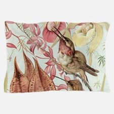 Vintage Hummingbirds and Orchids Pillow Case