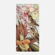 Vintage Hummingbirds and Orchids Beach Towel
