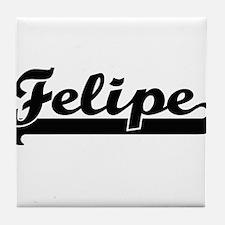 Felipe Classic Retro Name Design Tile Coaster