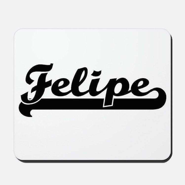 Felipe Classic Retro Name Design Mousepad