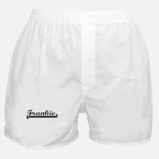 Frankie Classic Retro Name Design Boxer Shorts
