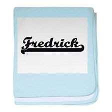 Fredrick Classic Retro Name Design baby blanket