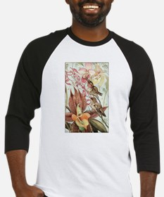 Vintage Hummingbirds and Orchids Baseball Jersey