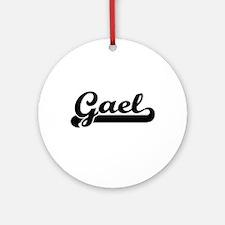 Gael Classic Retro Name Design Ornament (Round)