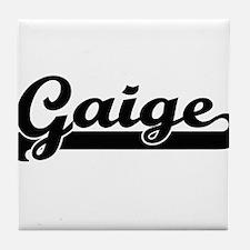 Gaige Classic Retro Name Design Tile Coaster