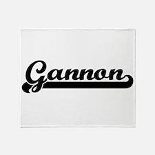 Gannon Classic Retro Name Design Throw Blanket
