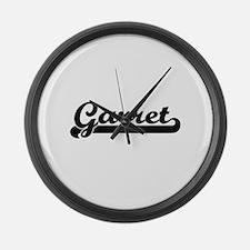 Garret Classic Retro Name Design Large Wall Clock