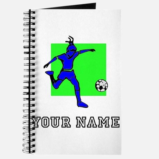 Blue Soccer Player (Custom) Journal