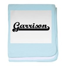 Garrison Classic Retro Name Design baby blanket