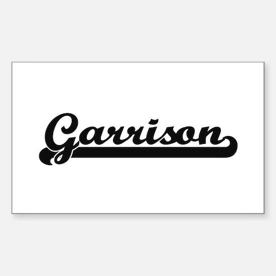 Garrison Classic Retro Name Design Decal