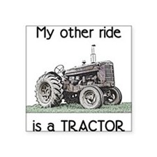 "Cute Tractor Square Sticker 3"" x 3"""