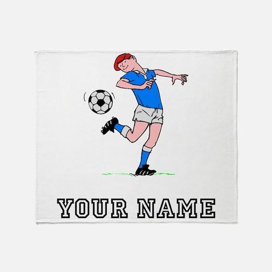 Soccer Kid (Custom) Throw Blanket