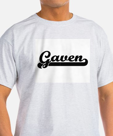 Gaven Classic Retro Name Design T-Shirt