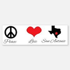 Peace Love and San Antonio. Bumper Bumper Bumper Sticker