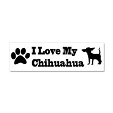 I Love my Chihuahua Car Magnet 10 x 3