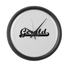 Gerald Classic Retro Name Design Large Wall Clock