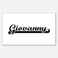 Giovanny Classic Retro Name Design Decal