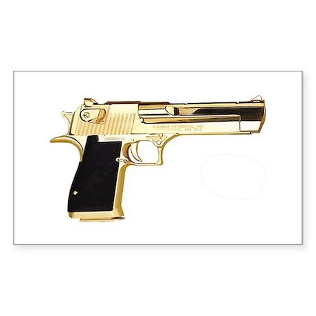 Gold Eagle Rectangle Sticker