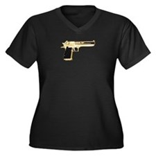 Gold Eagle Women's Plus Size V-Neck Dark T-Shirt