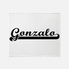 Gonzalo Classic Retro Name Design Throw Blanket