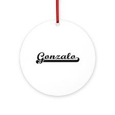 Gonzalo Classic Retro Name Design Ornament (Round)