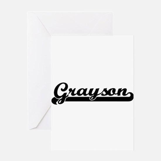 Grayson Classic Retro Name Design Greeting Cards