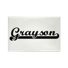 Grayson Classic Retro Name Design Magnets