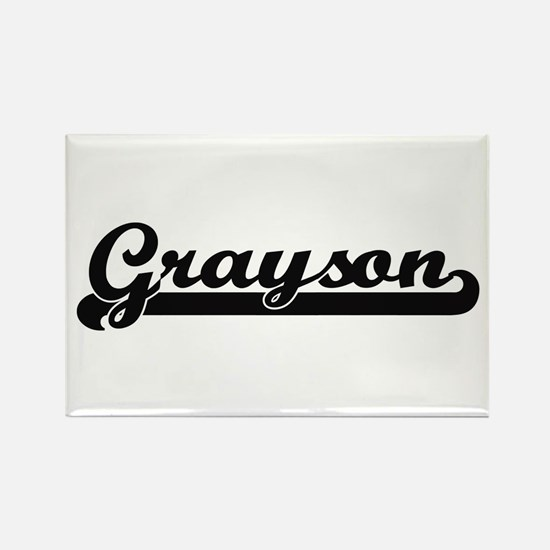 Grayson Classic Retro Name Design Magnets