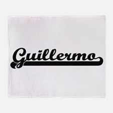 Guillermo Classic Retro Name Design Throw Blanket