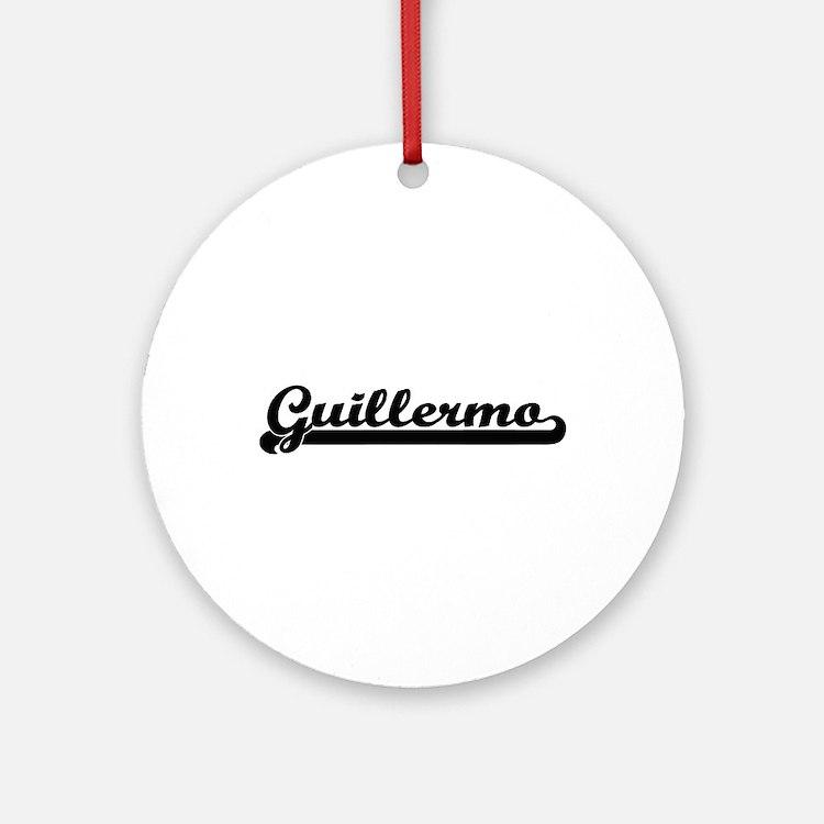 Guillermo Classic Retro Name Desi Ornament (Round)