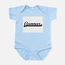 Gunnar Classic Retro Name Design Body Suit