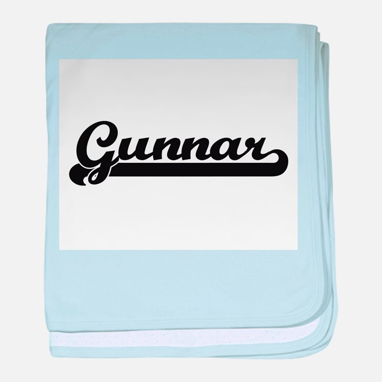Gunnar Classic Retro Name Design baby blanket