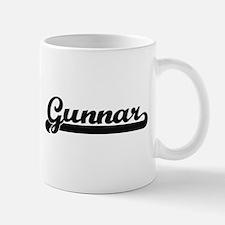 Gunnar Classic Retro Name Design Mugs