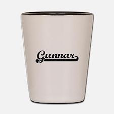 Gunnar Classic Retro Name Design Shot Glass