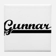 Gunnar Classic Retro Name Design Tile Coaster