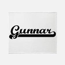 Gunnar Classic Retro Name Design Throw Blanket