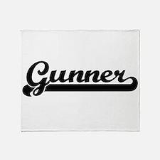 Gunner Classic Retro Name Design Throw Blanket