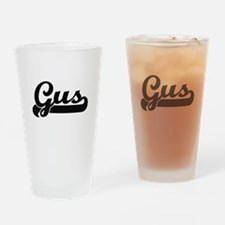 Gus Classic Retro Name Design Drinking Glass