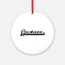 Gustavo Classic Retro Name Design Ornament (Round)